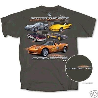 """Setting the Pace"" Corvette Indy 500 T-Shirt - L"