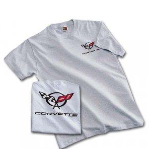 C5 Corvette Gray Ash Silk Screened T-Shirt - M