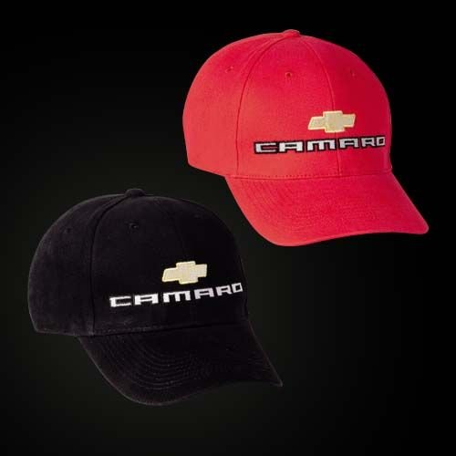 2010 Camaro Brushed Cotton Hat - RED