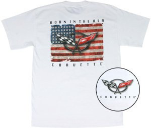 "C5 Corvette ""Born In The USA"" White T-Shirt - M"