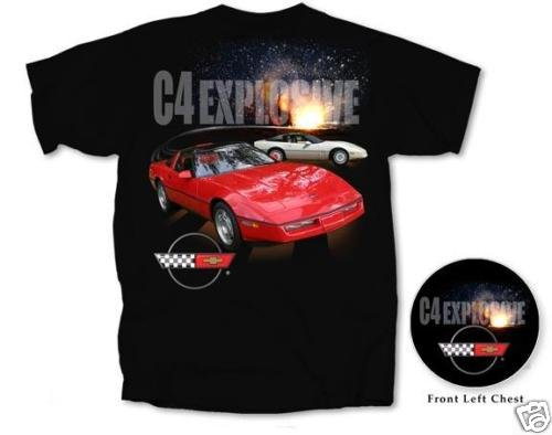"C4 Corvette ""C4 Explosive"" Black T-Shirt - XL"