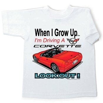 "Children's ""When I Grow Up..."" Corvette T-Shirt - 10-12"