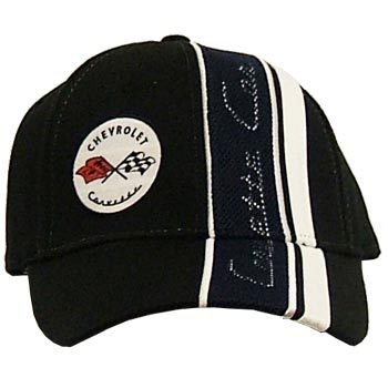 C1 Corvette Inset Mesh Black Twill Hat