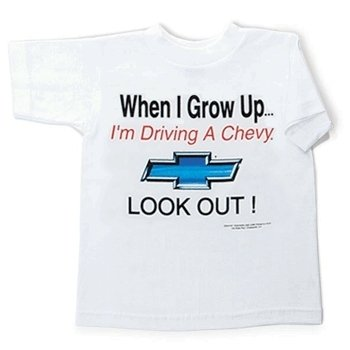 "Children's Chevy ""When I Grow Up"" White T-Shirt - 6-8"