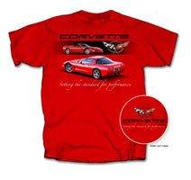 """C5 Corvette """"Setting the Standard..."""" Red T-Shirt - L"""