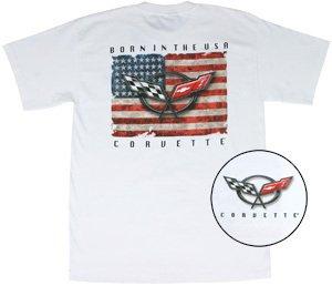 "C5 Corvette ""Born In The USA"" White T-Shirt - XL"