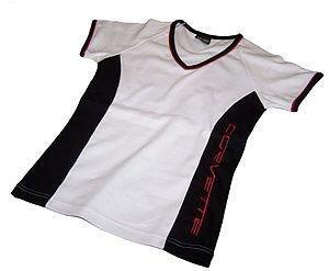 Women's Corvette Black, White and Red Shirt- XL