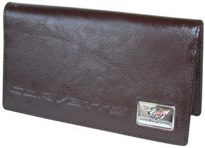 Corvette C5 Checkbook Cover - Brown Leather
