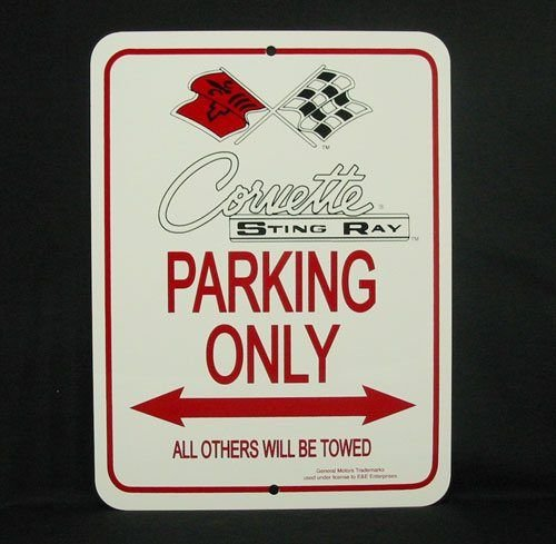 C2 1963-1967 Corvette Parking Only Sign