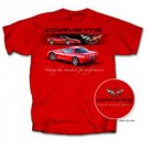 "C5 Corvette ""Setting the Standard..."" Red T-Shirt - XL"
