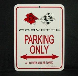 C3 1968-1972 Corvette Parking Only Sign