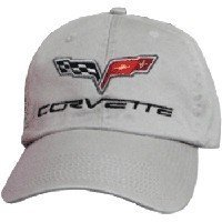 C6 Corvette Gray Low Profile Brushed Twill Hat