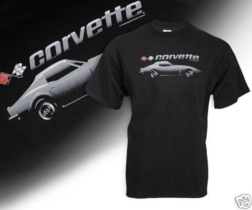 C3 Corvette Black Shadow T-Shirt - L