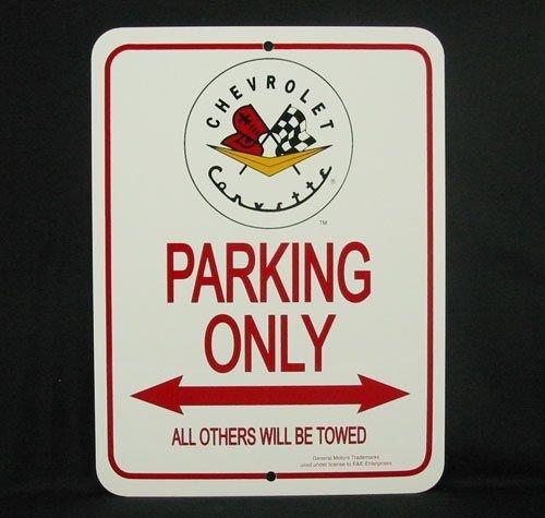 C1 1953-1962 Corvette Parking Only Sign