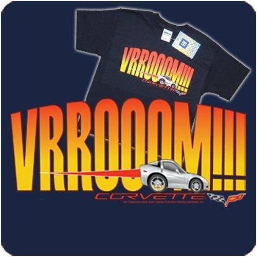 """Children's C6 Corvette """"VRROOOM!"""" Navy T-Shirt -Youth L"""