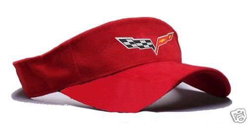 C6 Corvette Visor - Red