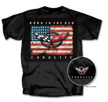 "C5 Corvette ""Born In The USA"" Black T-Shirt - 3XL"