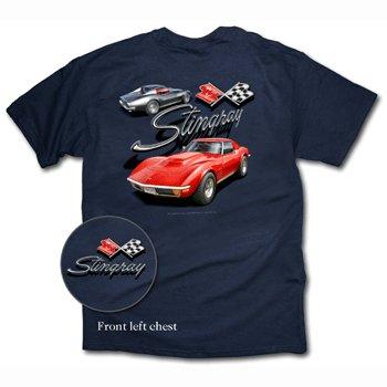 C3 Corvette Stingray Navy Blue T-Shirt - XL