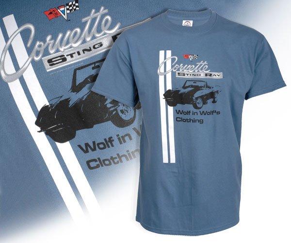 """C2 Corvette """"Wolf's Clothing"""" Blue T-Shirt - M"""