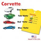 "Children's ""One Vette, Two Vette"" Yellow T-Shirt- 14-16"
