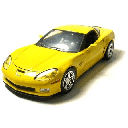 C6 2007 Z06 Velocity Yellow Corvette 1:24 Scale Diecast