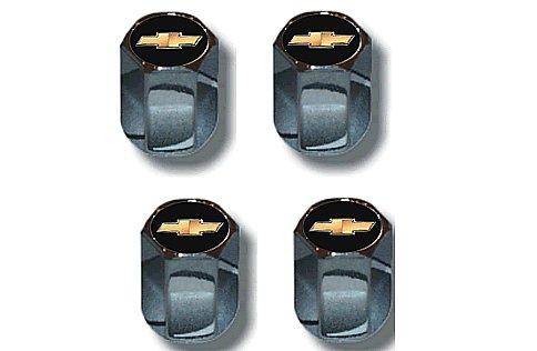 Chevy Gold Bowtie Logo Valve Stem Caps - (Set of 4)