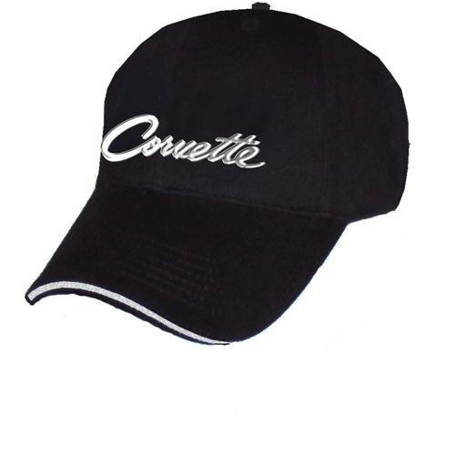 Chevrolet Corvette Script Black Sandwich Brim Hat