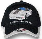 C5 Corvette Black/Gray Car Low Profile Cotton Hat