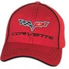 C6 Corvette Red Flex Fit Hat