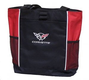 C5 Corvette Tote Bag - Red