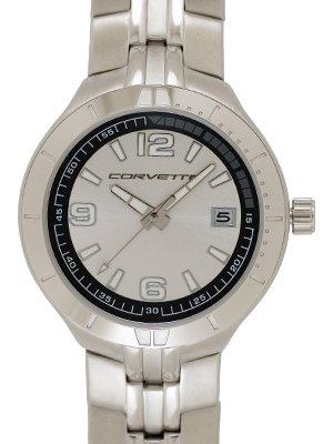 Corvette Calendar Watch with Metal Band
