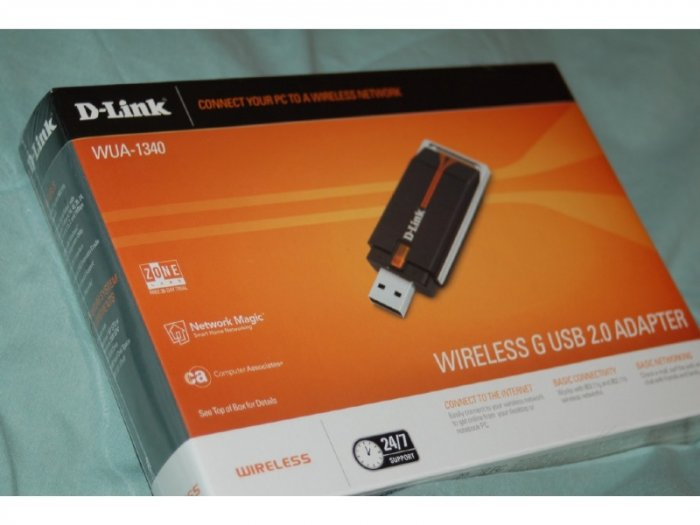 D-Link WUA-1340 USB 802.11G WIRELESS ADAPTER GO WiFi!