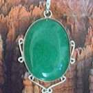 Emerald and Sterling Silver Pendant