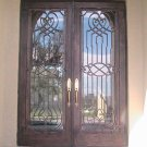 "Wrought Iron Doors. Double door 75 1/2"" x 81 1/2"""