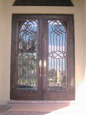 """Wrought Iron Doors. Double door 75 1/2"""" x 81 1/2"""""""