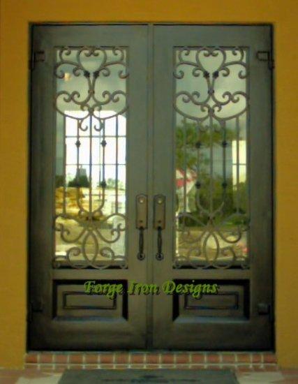 """Wrought Iron Door. 75 1/2"""" x 97 1/2"""""""