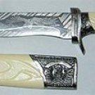 White Handle Eagle Athame Sword