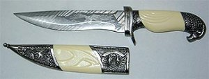 White Handle Eagle Athame Sword