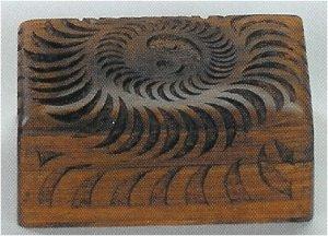 Spiral Wood Tarot Box