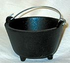 "Cast Iron Cauldron: 2 3/4"" dia."