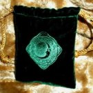 Velvet Embossed Celestial Moon Treasure Bag