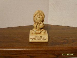 """WONDERFULLEST PERSON"" Paula Resin Figurine W-356 1976"