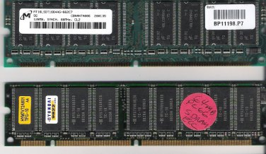 PC 66 Computer Legacy Memory Lot of 2 Worked When Removed