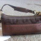 authentic COACH signature brown hobo stripe handbag