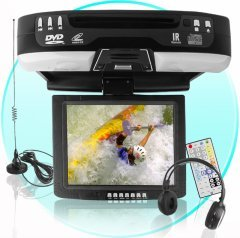 10.4 Inch TFT-LCD Monitor + DVD Player -Black - Roof Fixed