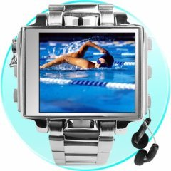 "MP4 Player Watch Amazing Style 8GB - 1.8"" Screen - Stainless steel"