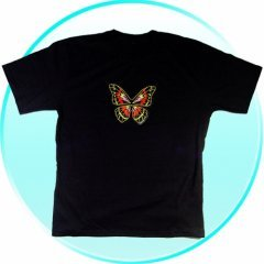 T-Shirt - Extra Large -Flashing Butterfly