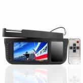 7 Inch Sun Visor TFT LCD Monitor - 360 Degree Swiveling -Black