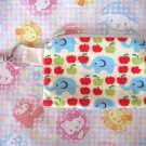 Cram Cream Fabric Zipper Pouch - Elephants & Apples