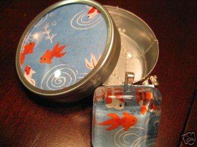 Handmade Japanese Glass Pendant Koi with Matching Gift